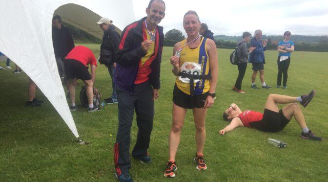 Rich and Estelle make a splash in Puddletown Plod Half Marathon