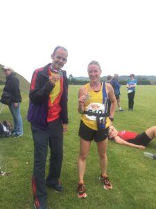 Rich and Estelle after the Puddletown Plod Half Marathon
