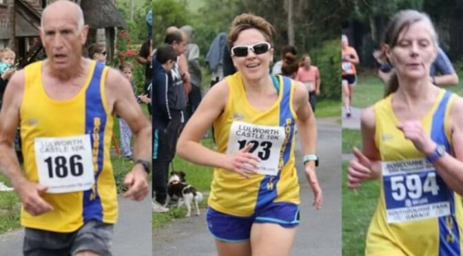 Simon, Kirsty and Jayne get involved at Coombe Keynes 10k