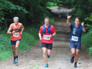 Steve Ross gives the thumbs up in the Dorset Conquest Half Marathon