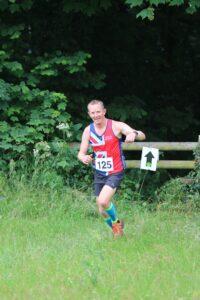 Stu Glenister in action in the Dorset Conquest Half Marathon