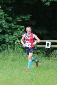 Stu Glenister going well in the Dorset Conquest Half Marathon