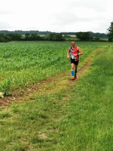 Stu Glenister makes his way through the field