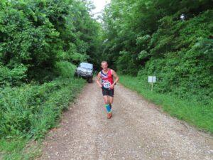 Stu Glenister in the Dorset Conquest Half Marathon