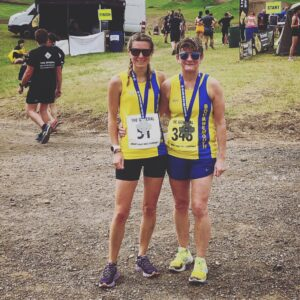 Tamzin Petersen and Louise Price after The General 10k