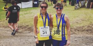 Tamzin Petersen and Louise Price at The General 10k