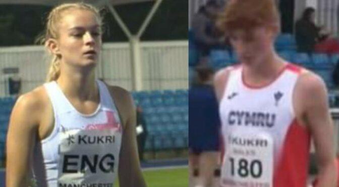 Amelia Verney and Oliver James at Manchester International