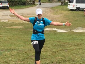 Anna Trehane in the RAT Black Route 50k