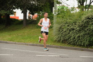Ant Clark heads past in the Eastleigh 10k