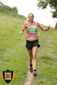 Emma Caplan hitting the trails at Thunder Run 24 Hour