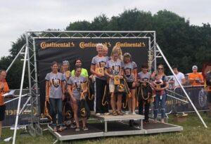 Female 3-5 teams podium at Thunder Run 24 Hour