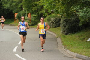 Harry Smith battling it out in the Eastleigh 10k