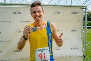 Harry Smith after Eastleigh 10k