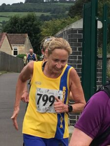 Heather Khoshnevis in action in the Bath Two Tunnels Marathon