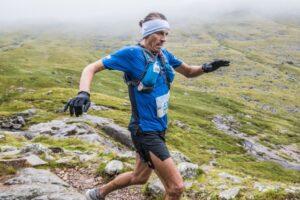Jacek Cieluszecki in action in the Scafell Pike Trail Marathon