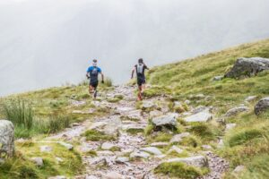 JC makes his way along the trails in the Scafell Pike Marathon