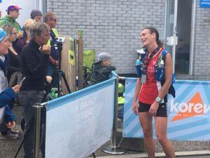 Katherine Trehane finishes the RAT Black Route 50k