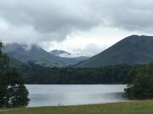 View of the Lake District area surrounding Scafell Pike