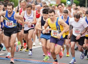 Harry, Adam and Tag starting the Eastleigh 10k
