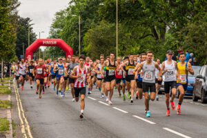 Start of Eastleigh 10k with Harry Smith and Adam Corbin