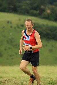 Stu Glenister in action in the Summer Larmer 8 Mile