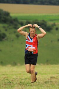 Stu Glenister doing the Stubot in the Summer Larmer 8 Mile