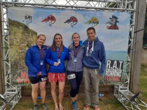Stu and the Trehane sisters at the Roseland August Trail