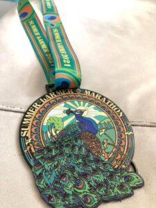 The Summer Larmer Marathon medal