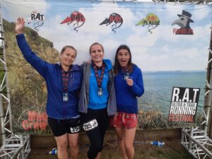 The Trehane sisters after the RAT Black Route 50k