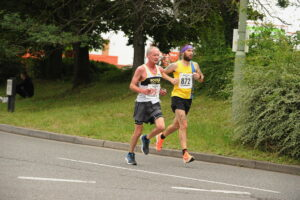 Trev Elkins heads down the road in the Eastleigh 10k