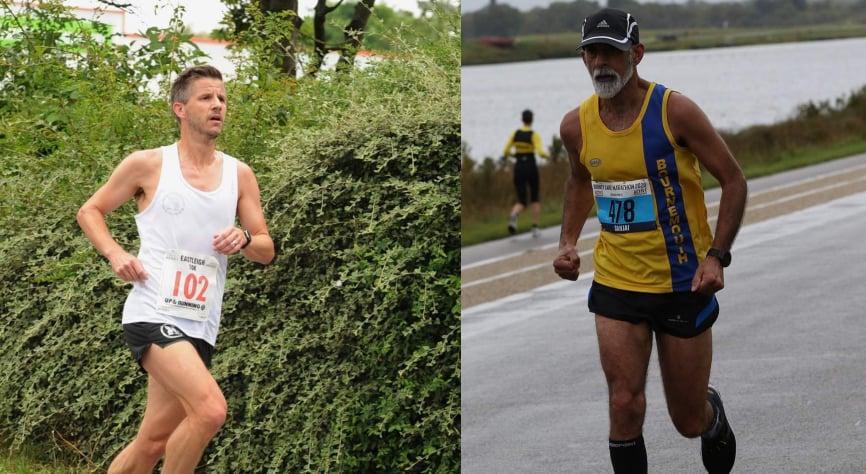 Ant Clark and Sanjai head for half marathon made in Dorney Lake
