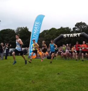Harry gets his race underway at the Shere Half Marathon