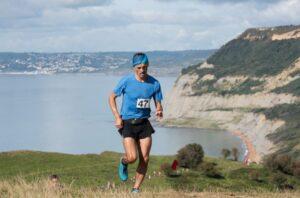 Jacek Cieluszecki climbs Golden Cap