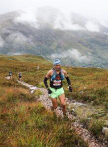 Jacek Cieluszecki heads along the path in the Three Mealls Trail Race
