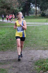 Jayne Wade in action in the Brighton Marathon