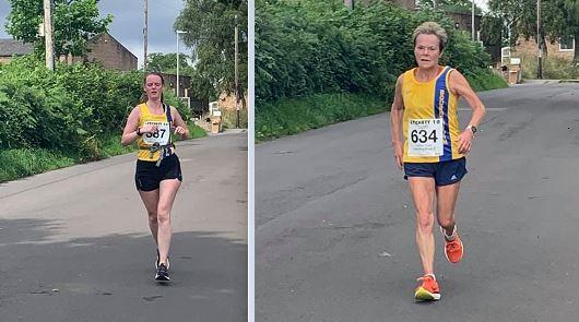 Katrina White and Helen Ambrosen in the Lytchett 10