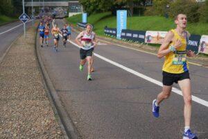 Mitch Griffiths taking on the Brighton Marathon