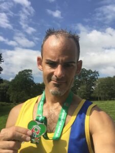 Rich Brawn with medal after Lytchett 10