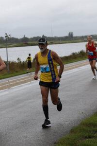 Sanjai Sharma in the Maidenhead Half Marathon at Dorney Lake