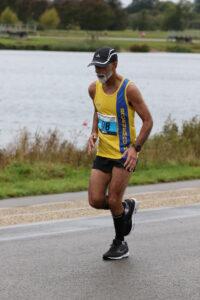 Sanjai Sharma at the Maidenhead Half Marathon in Dorney Lake