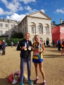 Ali Humphrey and Heather Khoshnevis after the race