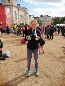 Alison Humphrey with her medals
