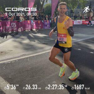Anthony Clark in the London Marathon
