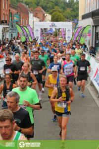 Estelle Slatford and Ken Parradine in the Winchester Half Marathon
