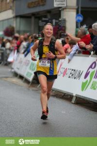 Estelle Slatford in the Winchester Half Marathon