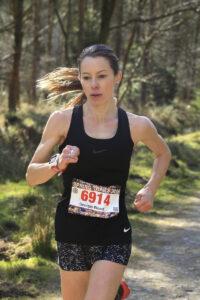 Georgia Wood in the New Forest Marathon Half Marathon