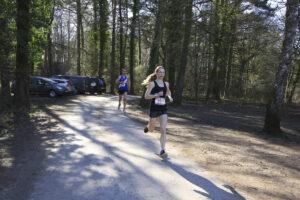Georgia Wood in action in the New Forest Marathon Half Marathon