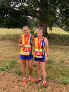 Heather Khoshnevis and Helen Ambrosen at the New Forest Marathon