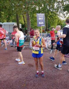 Heather Khoshnevis after the London Marathon