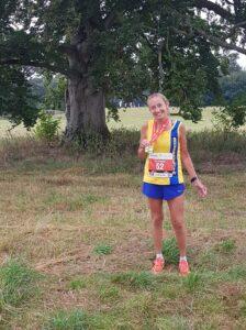 Heather Khoshnevis after the New Forest Marathon